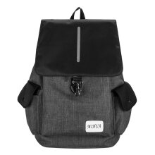 COZIME Anti-Theft USB Charging Men Women Backpack Canvas School Bag Laptop Grey