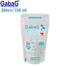 Gabag Breast Milk Storage - Kantong ASI 100 ml Isi 30 Pcs (Biru)
