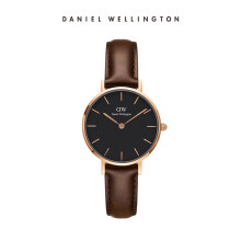 Daniel Wellington Petite Leather Watch Bristol Black Black 28mm