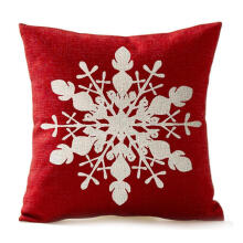 Farfi Red Snowflake Merry Christmas Throw Pillow Case Cushion Cover Sofa Decoration as the pictures