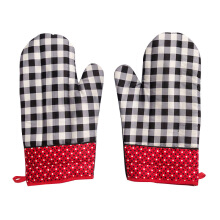 ARNOLD CARDEN Oven Mitts Kotak Othello - Black/Red 17x25cm ( 1 pasang kanan-kiri)