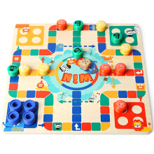 Real Bubee 130710 Two-sided Flying Chess Puzzle Toy Board Game for Kids  - Multicolor