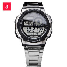 Casio AE-1000WD-1A Sports double display waterproof electronic watch-Silver