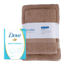 JD.ID Paket Special Bath Woven dan Body Wash Aqua Moisturizing Refill - Brown