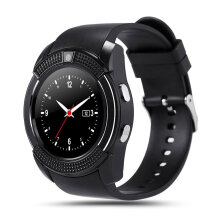 [kingstore] V8 Smart Wrist Watch Sleep Monitor Sports Pedometer Support SIM TF Card Black