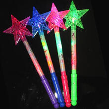 Farfi Luminous Hollow Star Glow Light Stick Wand Concert Performance Party Prop Toy Random Color