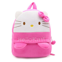 COZIME Cute Cartoon Kids Plush Backpack Toy Mini School Bag for Aged 3-5 Years Rose Red