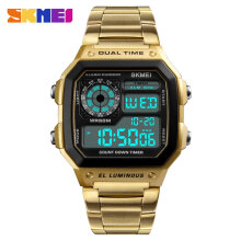 Men's Watch Skmei Man Dual Time Display Watch LED Digital Quartz Analog Wrist Watches