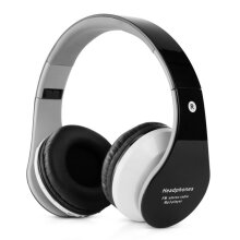 COZIME B-01 Stereo Bluetooth Headphone Support TF Card FM Radio with Microphone Black