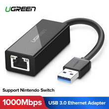 UGREEN Network Adapter 10/100/1000Mbps USB C Ethernet USB-C to RJ45 Lan Adapter for MacBook Pro Samsung Galaxy S9/S8/Note 9 Type C Network Card USB Ethernet