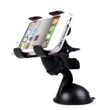 ivolks Universal Car Styling Windshield Mount Stand Mobile Phone Holder 360 Degree Rotating Mobile Scaffold Black