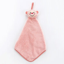 [OUTAD] Fashion Kitchen Bathroom Hanging Coral Velvet Towel Drying Hand Pink