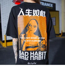 Ta To 2019 Men Hip Hop T Shirt Smoking Sister Picture Retro T-Shirt Streetwear Harajuku Tshirt Oversized Summer Black Tops Tees