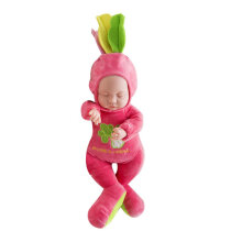 [COZIME] 35CM Standard Imitation Sleeping Baby Doll Vinyl Toy Lifelike Newborn Dolls Rose Red1