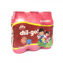 Morinaga Chil Go Strawberry 140ml - 6 Pcs