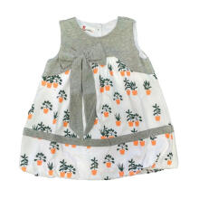 Tiny Button Tanam Dress Anak - Abu Putih 2-3 tahun Grey 2-3 Years