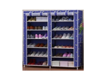 Home-Klik Shoe Rack 12 Layers with Dust Cover - Rak Sepatu Bermotif - Biru