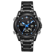 NAVIFORCE brand Sport Full Steel Digital LED watch reloj hombre Army Military wristwatch relogio masculino 9050