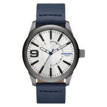 Diesel DZ1859 Rasp Men White Dial Blue Leather Strap [DZ1859]