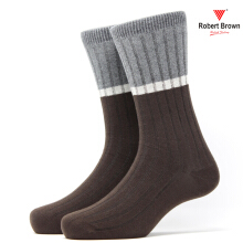 ROBERT BROWN Kaos Kaki Kasual Pria RBCLD 7843 - Coklat Brown