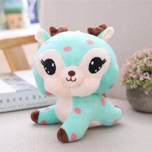 [kingstore] Kawaii Cartoon Deer Soft Plush Toy Stress Reliever Creative Soothing Kids Doll Blue