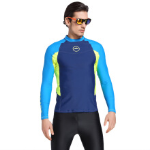 SBART Men Diving Wetsuit Tops Summer Long Sleeve Swimming Surfing Rashguard T Shirts Snorkeling UV Protection Swimwear