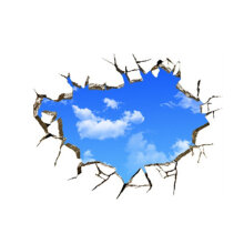 [kingstore] New Creative Blue Sky 3D Stereo Ceiling Living Room Bedroom Wall Sticker Blue