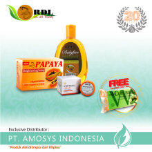 RDL Package Papaya 90Gr+Cleanser+Whitening Cream Free Cucumber Soap 20Gr