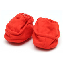 Cribcot Booties Plain - Hot Red Size 0-3M