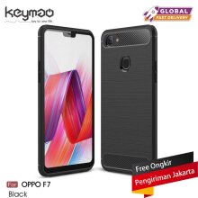 Keymao OPPO F7 Case Soft TPU Silicon Full Protect Cover Black