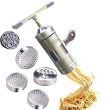 Anamode Manual Noodle Maker Kitchen Pasta Spaghetti Pressing Pates Machine - Silver
