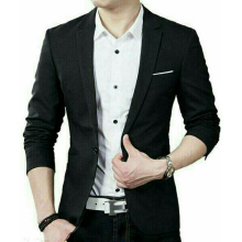 ABDC - Blazer Pria Jas Formal cool navy Black One Size