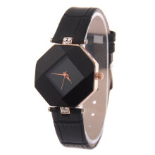 Quartz watches Men's Watch Waterproof Women Wristwatch Elegant Quartz Watch Ultra-Light Lozenge Glass