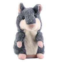 [COZIME] Hot Speak Talking Record Nod Hamster Mouse Plush Kids Toy Russian Gift Grey1
