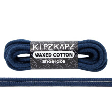 KIPZKAPZ WS23 Waxed Cotton Round Shoelace - Navy [3mm]