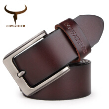 COWATHER men belt cow genuine leather designer belts for men high quality fashion vintage male strap