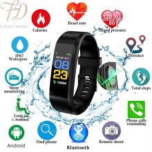 PEKY Smart Watch Wristband Heart Rate Monitor Fitness Tracker band Color Screen Sport Smart Bracelet for IOS Android