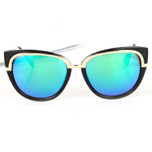 XQ-HD Cat Eye Sunglasses Personality Coating Lens Eyeglasses -Onesize -