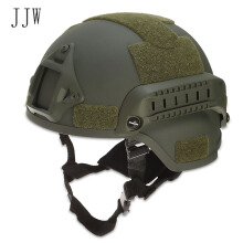 JJW Tactical Helmet Airsoft Gear Paintball Head Protector with Night Vision Sport Camera Mount