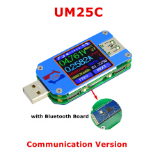Bakeey UM25C/UM25 USB2.0 Color LCD Display Type C Voltage Current Cable Resistance Measure Tester A