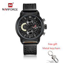 NAVIFORCE Men Fashion Casual Big Dial Quartz Analog Wristwatches Luxury Brand Waterproof Sports Watches Male Relogio Masculino