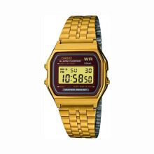 Casio A159WGEA-5DF D30H379GLDHT Digital Jam Tangan Unisex Gold List Black