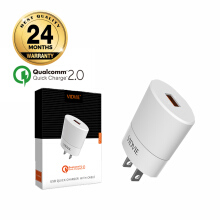 VIDVIE Charger PLM308 Qualcomm Quick Charge 2.0 / Adapter Charger - White