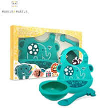 Marcus And Marcus Baby Feeding Set - Green Elephant