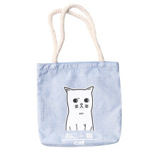 Farfi Women Canvas Cat Letter Pattern Shoulder Bag
