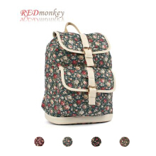 RED MONKEY Ethnic Flower Backpack
