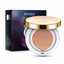 Bioaqua Exquisite and Delicate BB Cream Air Cushion Pack Gold Case SPF 50++ Foundation Make Up - BOX HITAM SINGLE