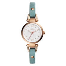 Fossil Georgia Mini 3-Hand Teal Leather Watch [ES4176]