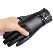SiYing Korean version plus velvet warm outdoor cycling gloves Black