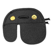 [COZIME] Cow Leather Archery Finger Guard Protection Pad Glove Tab Bow Shooting Black
